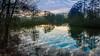 L'Heure bleue. (musette thierry) Tags: vert bleu landscape paysage musette thierry d800 nikon fx reflex reflet belgique antoing hainaut photographie picture new falowme belgium lieu