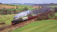 70000 At Tisbury. 20/03/1993 (briandean2) Tags: 70000 britannia tisbury wiltshire steam railways uksteam ukrailways