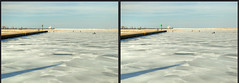 A Day On The Lake (Jeff®) Tags: jeff® j3ffr3y copyright©byjeffreytaipale lakeerie lakecounty fairportharbor ice snow lighthouse winter sky reticulatingsplines stereo 3d crossview crosseye ohio ohiopark outdoors outside sony sigma50500