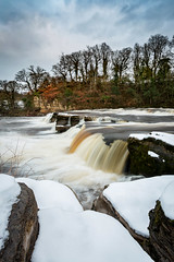 Frozen Fosse (matrobinsonphoto) Tags: richmond north yorkshire falls waterfall foss fosse river swale swaledale dales countryside view scenery scenic beautiful rural town snow snowy winter wintry frozen landscape water trees evening blue hour sunset dusk flood rocks rocky