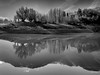 Sibillini - lago di Fiastra (Luigi Alesi) Tags: fiastra sibillini italia italy marche macerata lago lake riflessi reflections bianco e nero black white bn bw parco nazionale dei monti national park nikond750 raw