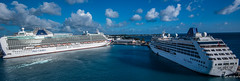 2017 - Regent Cruise - Bridgetown, Barbados - P&O Cruisers (Ted's photos - For Me & You) Tags: 2017 barbados bridgetownbarbados cropped nikon nikond750 nikonfx regentcruise tedmcgrath tedsphotos vignetting adonia azura poazura po poadonia cruiseship ships port bridgetownport wideangle widescreen pocruises bluesky blue