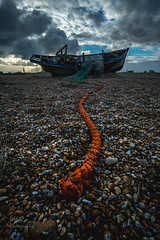 The Derelict Fishing Village (ed027) Tags: ifttt 500px sea boat stones clouds old orange ship history boats time seascape fish fishing stone village tide abandoned cloud weather storm clear seaside seashore detail historical net rope historic string derelict