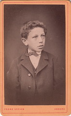 Portrait of a boy by Franz Schuen (1870s)