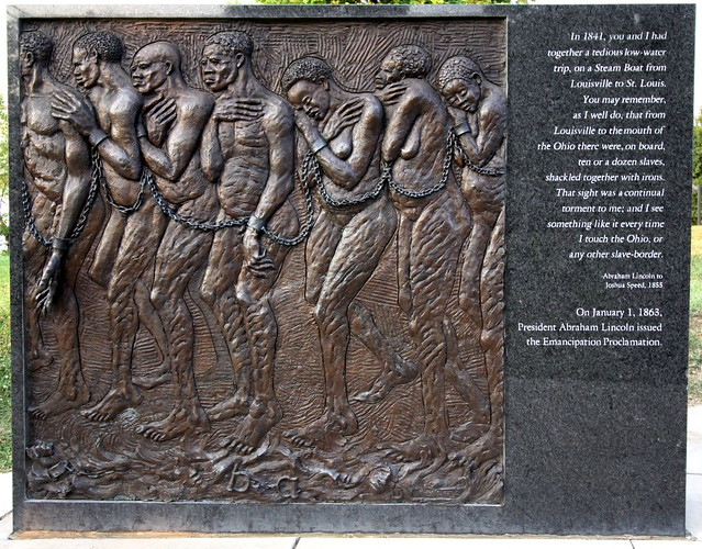 Lincoln Bas-relief scenes #4 - Louisville Waterfront Park
