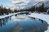Reflections of Banff (julie cavell) Tags: banff landscape nature canada alberta travel outdoors snow winter reflections water trees mountains