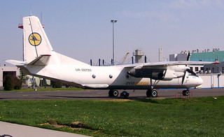 Avia Express AN-26 UR-26233 parked at KBP/UKBB