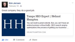 kim j recommendation from facebook (helmuthamptontampaseo1) Tags: recommendinghelmuthamptoncomfortampaseo tampasearchenginemarketingfirm marketingonline sem