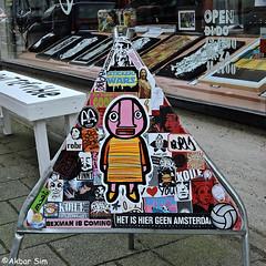 Stickers (Akbar Sim) Tags: holland nederland netherlands rotterdam sticker stickerart combo akbarsim akbarsimonse casperincstickers stelleconfuse italystickers streetart