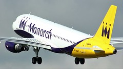 G-ZBAT (AnDyMHoLdEn) Tags: monarch a320 egcc airport manchester manchesterairport 23l