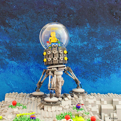 Drilling machine (Kloou.) Tags: lego kloou foreuse machine drilling space legospace spaceclassic drill ball crater