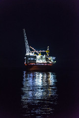 Goliat City of Lights (SPMac) Tags: arctic circle barents sea norway lights eni norge goliat fpso 71227 floating production storage oil gas city reflection
