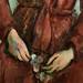 CEZANNE,1888-90 - Portrait de Madame Cézanne en rouge (Sao Paulo) - Detail o