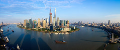 Shanghai skyline panoramic view, Shanghai China (Patrick Foto ;)) Tags: abstract aerial architecture asia background building business center china chinese city cityscape construction corporate destination downtown dusk finance financial high holiday huangpu journey landmark metropolitan modern office oriental panoramic pearl pudong river scene shanghai ship sky skyline skyscraper tourism tower travel urban view water waterfront world shanghaishi cn