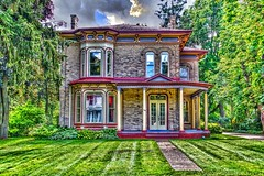 Waterloo Ontario ~ Canada ~ Italianate Architecture (Onasill ~ Bill Badzo) Tags: waterloo ontario ont canada county italianate architecture style porch university college district classical onasill heritage historic 19th century models mansion house home beautiful decor bed breakfast and restaurant spa merner parliament senator mpp restored inn festival kitchener braden sky cloud canon sl1 rebel sigma 18250mm macro building outdoor french windows garden grass reflections airbnb