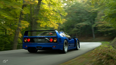 F40 Forest (jandengel) Tags: granturismo gt gts car scapes game ps4 polyphony ferrari f40 forest