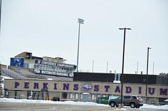 Perkins Stadium Winter Shot (UWW University Housing) Tags: uwwhitewater perkinsstadium winter snow stadium whitewaterwi uww car parkinglot