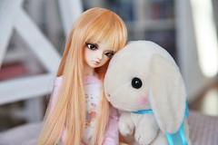 Thinking Of Him.. (SunShineRu) Tags: minifee miyu mnf fairyland ball jointed doll bjd plushie rabbit amuse kawaii cute thinking