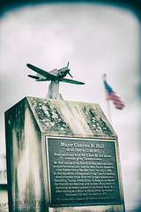 Charles B Hall (Tuskegee Airmen) (Off The Beaten Path Photography) Tags: tuskegee airmen wwii indiana history usa military army war hero veteran canon markiii 5dmarkiii p40l monument statue memorial honor