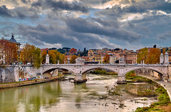 Rome (Petr Horak) Tags: rome bridge river house sclouds city outdoor water europe italy sky