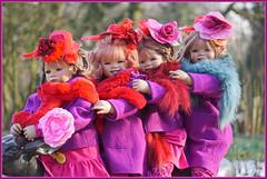 Kindergartenkinder ... gemeinsam schaffen wir es ... (Kindergartenkinder) Tags: kindergartenkinder annette himstedt dolls sanrike tivi gruga grugapark essen karneval fasching annemoni milina