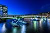West India Quay (Malamute01) Tags: west india quay floating bridge blue hour canary wharf london city uk england