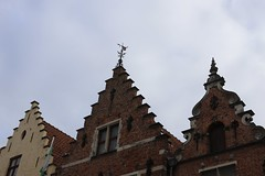 Three Roofs (majamacanovic) Tags: roof roofs brick wall bruges old architecture window windows