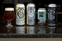 The Lineup (brucetopher) Tags: beer can cans craft local brew craftbeer craftbrew smallbatch ale americancraftbeer esb stout pale oysterstout oyster 4 goodbeer glass pour amber dark drink nightshifbrewery devilspursebrewery blackhogbrewery capecodbeer