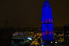Barcelona - Torre Agbar (gemicr69) Tags: espanya españa espagne spain catalonia catalunya cataluña catalogne barcelona barcellona barcelone agbar agbartower torre torreagbar tower toweragbar tour noche nuit night notte luces llums nit lights lumieres luce sony alpha dslra77 a77 gemicr gemicr69 joangarciaferre