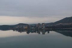Σιγή (Argyro Poursanidou) Tags: landscape sea bad weather dark darkness sky cloud water reflection