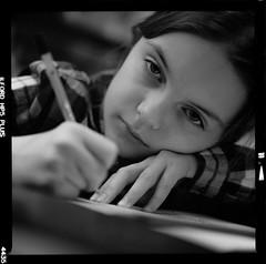 Bronica SQ-A-045-007 (michal kusz) Tags: maja bronica sqa ilford hp5 zenzanon s 110mm ilfosol 3 114 43min epson v600 3200 iso pushed portrait bw blackandwhite scan toned frame format medium face 6x6 120 film