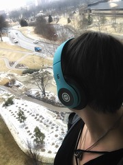 53/365 (Elephant Soap) Tags: headphones cold snow window selfie me project 365day