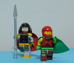 Big Barda and Mister Miracle (Julekcoolka) Tags: lego apokalips darkseid dc comics big barda mister miracle scott free
