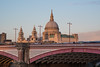 Warming glow (sarah_presh) Tags: blackfriarsbridge london thames riverthames stpaulscathedral stpauls bridge pink sunset afternoon winter february nikond750 glow dusk light warmlight street lights building architecture outdoors outside