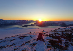 Yesterdays sunset (Mrs.Snowman) Tags: sunset hiking winter sulafjellet westcoast norway afternoon