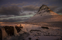 (Tom Roadcap) Tags: iceland kirkjufell round snow ice purple light stars cloud waterfall long exposure snowy white atlantic