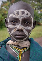 Surmi Tribe (Rod Waddington) Tags: africa african afrika afrique ethiopia ethiopian etiopia surmi surma tribe traditional outdoor portrait boy child omo omovalley tulgit