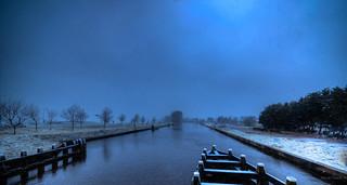 Wintery Noordhollandsch Kanaal.