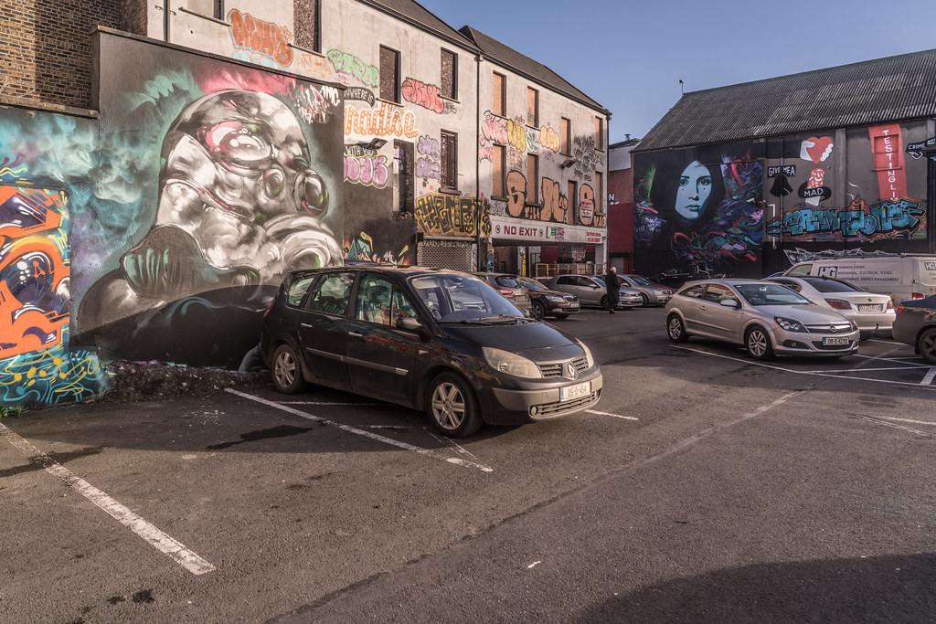 STREET ART AT THE TIVOLI CAR PARK IN DUBLIN [LAST CHANCE BEFORE THE SITE IS REDEVELOPED]-135607