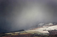 Snowstorm Above Hathersage (Julian Barker) Tags: hathersage peak district derbyshire snow snowstorm inclement weather dark blizzard england uk europe rural field hill light contrast canon dslr 600 julian barker