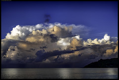 Tropical Thunderstorm III (frankmartinroth) Tags: 35mm f20 sony rx1r landscape clouds wide sky outdoor color seychelles storm nature ocean praslin sonnart235 thunderstorm water blue