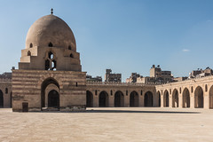 20171226 Cairo, Egypt 08345-49 (R H Kamen) Tags: ahmadibntulonmosque ahmedibntulunmosque cairo egypt egyptianculture middleeast northafrica arcade architecture courtyard day dome famousplace fountain mosque muslim outdoors placeofworship rhkamen