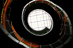 black swan (Fotoristin - blick.kontakt) Tags: architecture stairs staircase spiral abstract lines curves black orange blackswan fotoristin