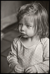 Grand Daughter #13 2018 (hamsiksa) Tags: child girl infany baby toddler littlegirl blackwhite portrait candidportrait informalportrait children availablelight ambientlight