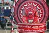 Kollam, Kerala - CPI & DYFI Poster - Kathakali Meets Communism (zorro1945) Tags: kollam kerala india indie asia asie southindia kathakali hinduism religion communism cpi dyfi redwhite red mask kathakalimask