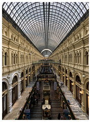 Gum, Shopping Mall, Moscow [1317] (my.travels) Tags: moscow russia russianfederation architecture gum shopping mall building vanishing iphone perspective travel moskva ru symmetry