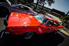 Muscle #6: '69 Charger (General Lee) (Rabican7) Tags: car musclecar americanmuscle downtown classic red general lee dodgecharger dodge charger photography automotive tv show manchester newhampshire newengland dukesofhazzard