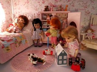Fun in the dollhouse...