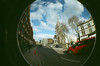 Christ Church Spitlefields (OneBigStoopidMess) Tags: london lomo fisheye2 kodakultramax chruch 35mm film lomography fisheye