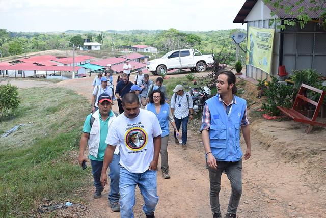 Visita a Vistahermosa - Meta, países colaboradores DPA. Febrero 2 / 18
